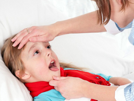 Симптомы и проявления герпесной ангины у детей